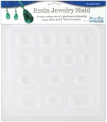 """Jewels 14 Assorted Shapes - Resin Jewelry Reusable Plastic Mold 6-1/2""""X7"""""""