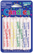 "Assorted Happy Birthday - Birthday Candles 3.5"" 8/Pkg"