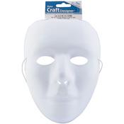 """White - PVC Mask Full Face 9.75"""" 1/Pkg"""