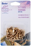 "Gold - Paper Fasteners .75"" 60/Pkg"