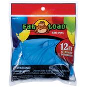 "Light Blue Stars - Fat Toad Latex Balloons 12"" 12/Pkg"
