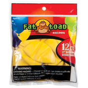 "Yellow - Fat Toad Latex Balloons 12"" 12/Pkg"