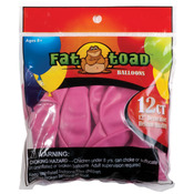 "Fuchsia Pink - Fat Toad Latex Balloons 12"" 12/Pkg"