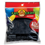 "Black - Fat Toad Latex Balloons 12"" 12/Pkg"