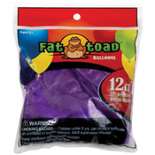 "Deep Purple - Fat Toad Latex Balloons 12"" 12/Pkg"