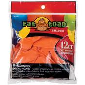 """Sunburst Orange - Fat Toad Latex Balloons 12"""" 12/Pkg"""