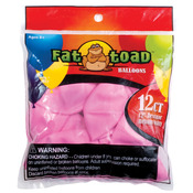 "Pink Stars - Fat Toad Latex Balloons 12"" 12/Pkg"