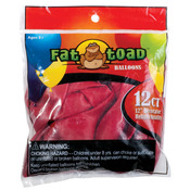 "Cherry Red - Fat Toad Latex Balloons 12"" 12/Pkg"