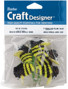 Black & Yellow - Chenille Bees W/Wire