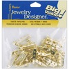 Gold - Pin Backs 1  48/Pkg DARICE-Pin Backs. Create your own pins and attach to these pin backs for a great fashion accessory! This package contains forty-eight 1 inch pin backs. Color: Gold. Imported.