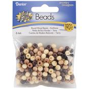 Earth Tones - Round Wood Beads 6mm 190/Pkg