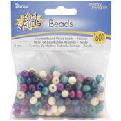 Fashion - Round Wood Beads 8mm 160/Pkg