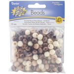 Earth Tones - Round Wood Beads 10mm 140/Pkg