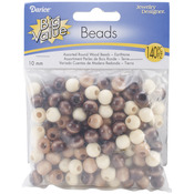 Earth Tones - Round Wood Beads 10mm 140/Pkg