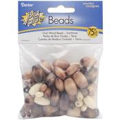 Earth Tones - Assorted Wood Beads 75/Pkg