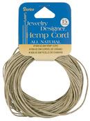 Natural - Hemp Cord 20# 15yd/Pkg