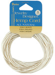 White - Hemp Cord 20# 8yd/Pkg