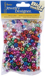 Metallic Multicolor - Pony Beads 6x9mm 380/Pkg