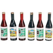 Wine Bottles 6/Pkg - Timeless Miniatures