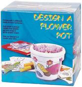 "White - Design-A-Flower Pot 3.5"""