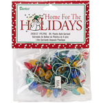 Multicolor - Plastic Christmas Bulbs 6' Garland