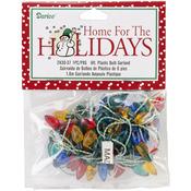 Multicolor - Plastic Christmas Bulbs 6' Garland