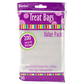 "Clear - Treat Bags 3.75""X6"" 200/Pkg"