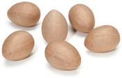 "2.5"" - Paper-Mache Eggs 6/Pkg"