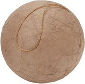 "3.94"" - Paper-Mache Wrinkled Ball Ornament"
