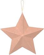 "8"" - Paper-Mache Star Ornament"