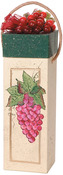 """4.25""""X12.25"""" - Paper-Mache Square Wine Box"""