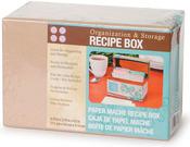 """6.75""""X3.75""""X4.5"""" - Paper-Mache Recipe Box"""