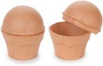 """3""""X3.5"""" - Paper-Mache Cupcake Box"""