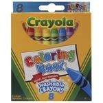 8/Pkg - Crayola Coloring Book Washable Crayons