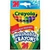 Crayola Washable Crayons - 24/Pkg