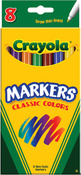 Classic Colors 8/Pkg - Crayola Fine Line Markers