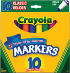 Classic Colors 10/Pkg - Crayola Broad Line Markers