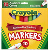 Crayola Broad Line Markers - Assorted Colors 10/Pkg