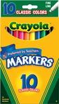 Classic Colors 10/Pkg - Crayola Fine Line Markers