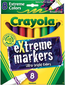 Extreme Colors 8/Pkg - Crayola Broad Line Markers