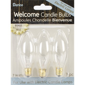 7 Watt 3/Pkg - Candle Lamp Collection Welcome Candle Bulbs