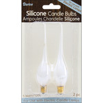 5 Watt 2/Pkg - Candle Lamp Collection Silicone Candle Bulbs