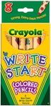 8/Pkg - Crayola Write Start Colored Pencils