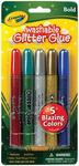 Bold 5/Pkg - Crayola Washable Glitter Glue Pens .35oz