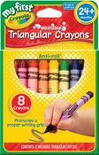 My First Crayola Washable Triangular Crayons 8/Pkg