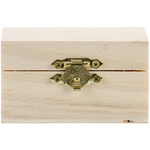 """2.25""""X2.25"""" - Wood Chest Hinged W/Clasp"""