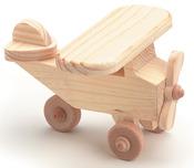 "Airplane 4.125""X2.375"" - Wood Toy Kit"