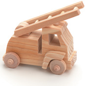 Fire Truck - Wood Toy Kit