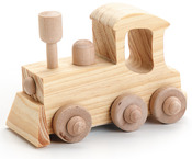 "Locomotive 4""X2.75"" - Wood Toy Kit"