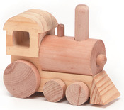 "Train 4.5""X1.75"" - Wood Toy Kit"